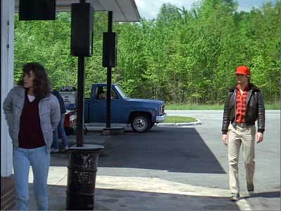 Starman and Jenny stop at a gas station