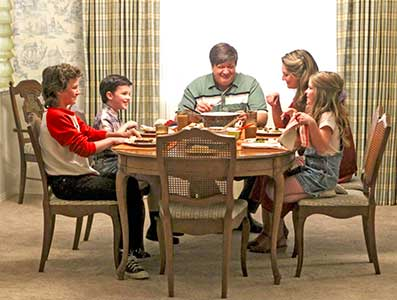 The Cooper family in Young Sheldon